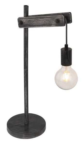 Lampada tavolo metallo nero opaco, 1xE27