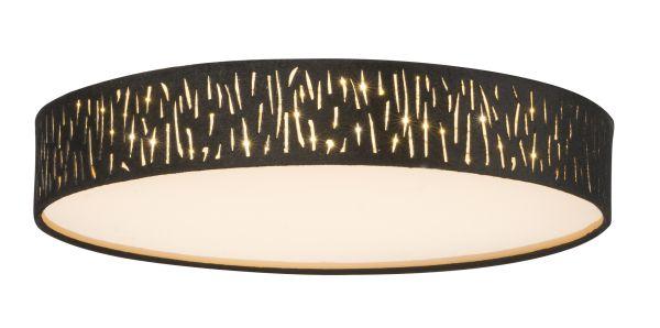 Plafoniera metallo nichel satinato, 1xLED
