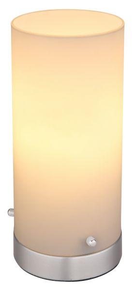 Lampada tavolo metallo nichel satinato, 1xE14 LED