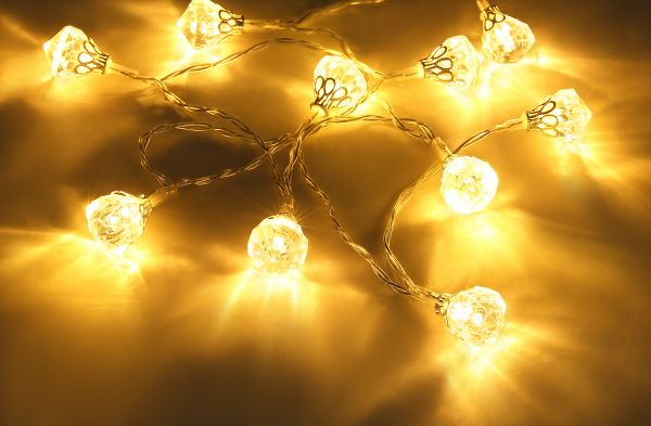 LED LICHTERKETTE KUNSTSTOFF, 10XLED