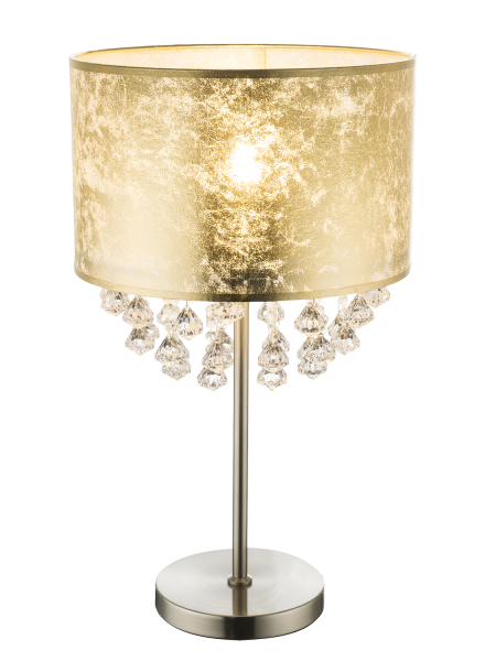 Lampada tavolo metallo nichel satinato, 1xE27