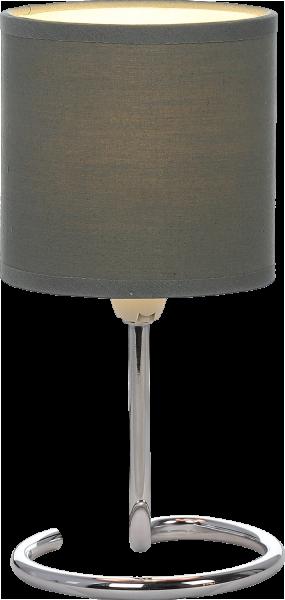 Lampada tavolo metallo cromo, 1xE14
