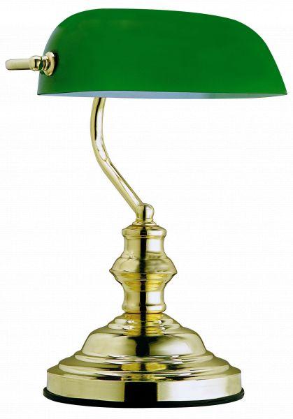 Lampada tavolo metallo ottonato, 1xE27
