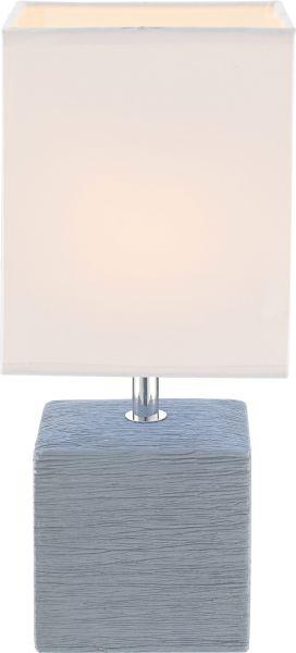 Lampada tavolo ceramica grigio, 1xE14