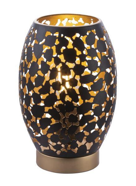 Lampada tavolo metallo dorato, 1xE27