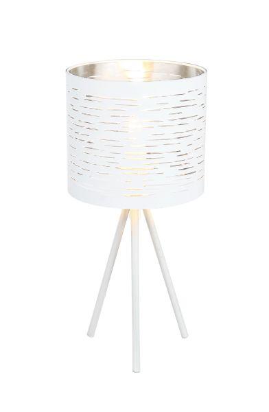 Lampada tavolo metallo bianco, 1xE14