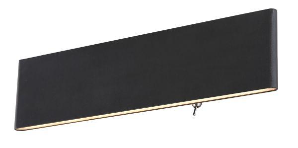 Applique alluminio nero, 1xLED