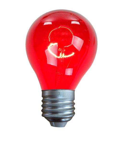 Lampadina vetro rosso, 1xE27
