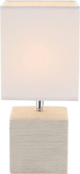 Lampada tavolo ceramica beige, 1xE14