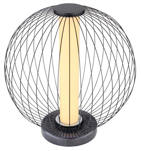 Lampada tavolo metallo nero opaco, 1xLED