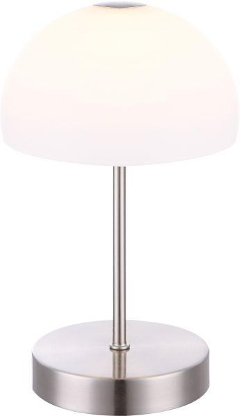 Lampada tavolo metallo nichel satinato, 1xLED