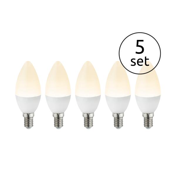 Lampadina LED plastica opale, 5xE14 LED