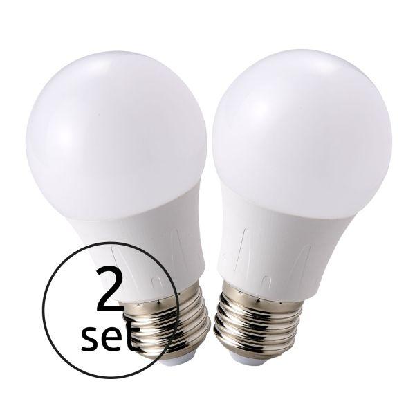 LED LEUCHTMITTEL KUNSTSTOFF OPAL, 2XE27 LED