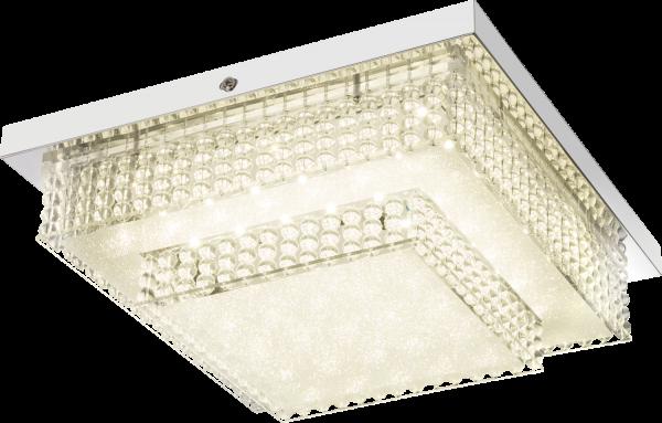 Plafoniera metallo cromo, 1xLED