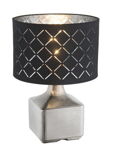 Lampada tavolo ceramica cromo, 1xE27