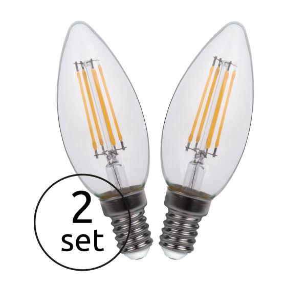 Lampadina LED vetro chiaro, 2xE14 LED