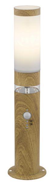 Lampada da esterno acciaio inox effetto legno, 1xE