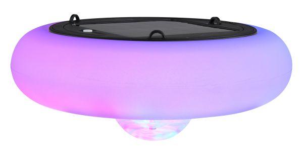 Luce solare plastica nero, 3xRGB LED