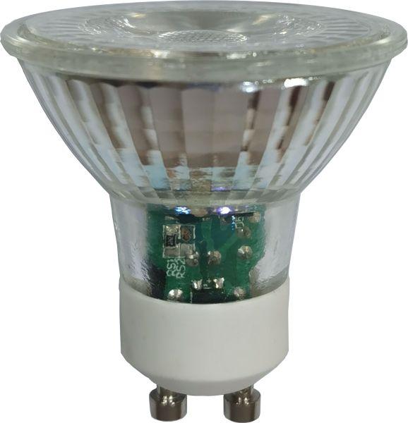 Lampadina LED vetro chiaro, 1xGU10 LED