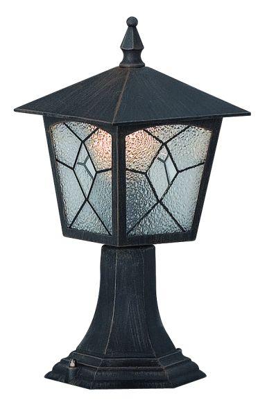Lampada da esterno alluminio nero, 1xE27