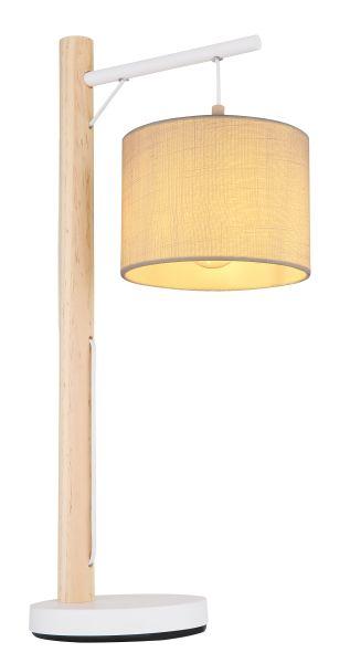 Lampada tavolo metallo bianco, 1xE27