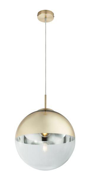 Sospensione metallo dorato, 1xE27
