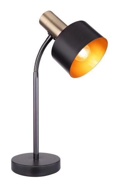 Lampada tavolo metallo nero, 1xE27