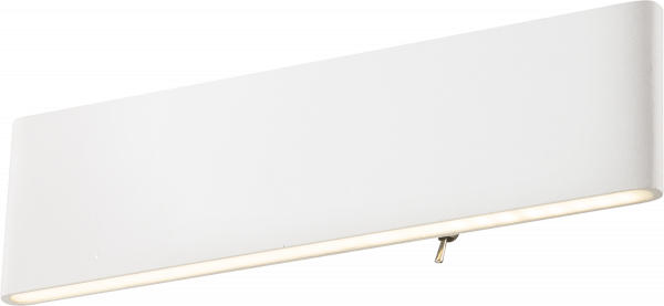 Applique alluminio bianco, 1xLED