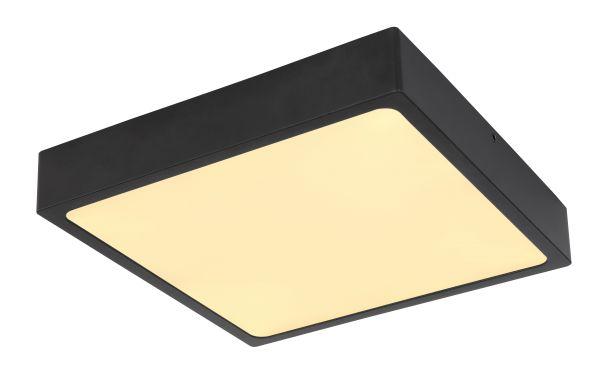 Plafoniera metallo nero opaco, 1xLED