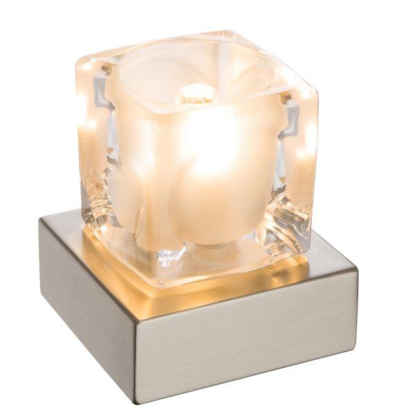 Lampada tavolo metallo argentato, 1xG9 LED