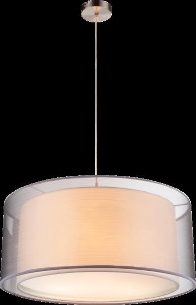 Sospensione metallo nichel satinato, 3xE27