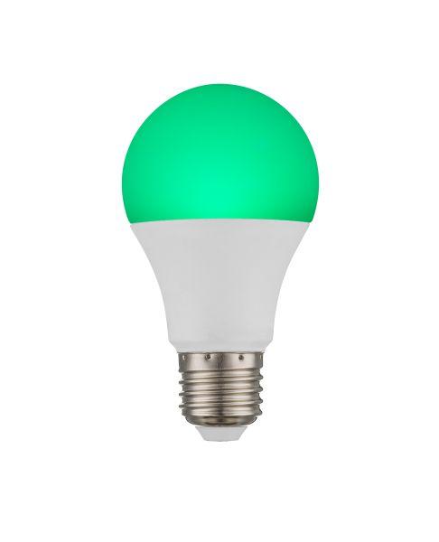 Lampadina LED plastica opale, 1xE27 RGBW LED