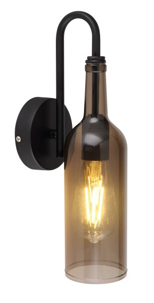 Applique metallo nero, 1xE27 LED