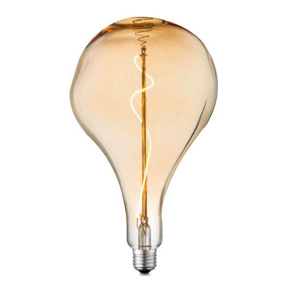 Lampadina LED vetro ambra, 1xE27 LED
