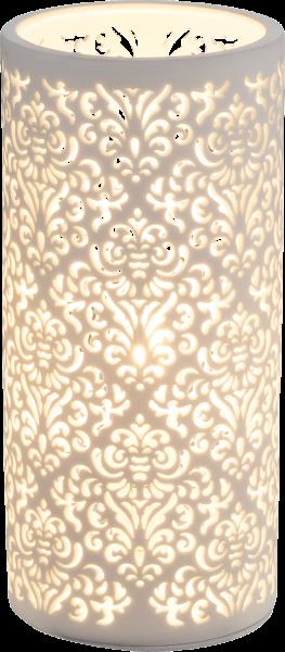Lampada tavolo Porcellana bianco, 1xE14
