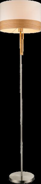Piantana metallo nichel satinato, 1xE27